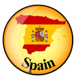 button Spain vector image