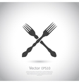 Crossed forks - vector image