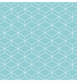 cube pattern background blue green vector image