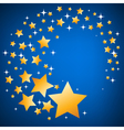 Gold and white stars seamless background vector image