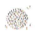 group of people in the shape of a circle vector image