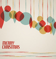 Retro Christmas card with christmas decorations vector image