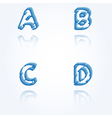 sketch jagged alphabet letters A B C D vector image