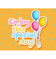 Special day vector image
