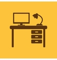 The table icon Workplace and job office working vector image