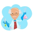 icon of scientist with testube vector image