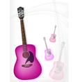 A Pink Guitar on Modern Elegance Background vector image vector image