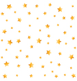 Gold stars seamless background vector image