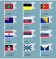 Flags set four-12 vector image