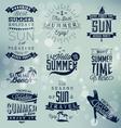 Summer Beach Calligraphy Design Elements vector image vector image