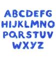 fluffy alphabet vector image vector image