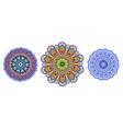 abstract circular pattern of arabesques watercolor vector image