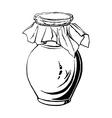 antique jug vector image