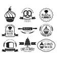 bakery shop logo vector image