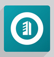 flat building icon vector image
