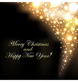 Merry Christmas Golden Background With Bokeh vector image