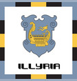 official government ensigns of illyria vector image