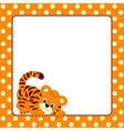 Tiger Card vector image