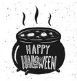 trick or treat witch kettle on white background vector image