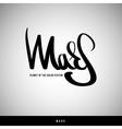 Mars hand lettering - handmade calligraphy vector image