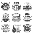 BBQ Grill Emblems Set vector image