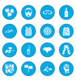 paintball game icon blue vector image