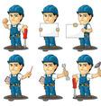 Technician or Repairman Mascot vector image vector image