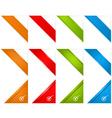 web page corner ribbons vector image vector image