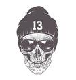 Dotwork skull Art vector image