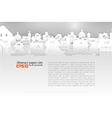 Abstract background with old building 3D Paper vector image