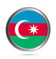 Azerbaijan flag button vector image