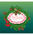 Christmas and New Year background - fir tree vector image