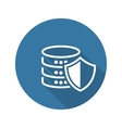 Data Protection Icon Flat Design vector image