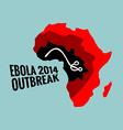 Ebola virus 2014 outbreak vector image
