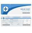 Plane ticket design Plane ticket Blank vector image