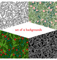 set of backgrounds with jungle vector image