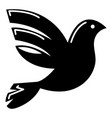 white peace pigeon icon simple style vector image