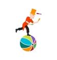 Juggling Sticks on Ball vector image