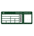 Airplane ticket blank vector image
