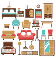 home furniture and room interior accessories vector image