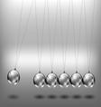 Newtons cradle metal balls vector image vector image