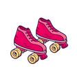 retro quad roller skates icon vector image