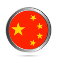 China flag button vector image vector image