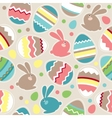 seamless Easter pattern with rabbits vector image vector image