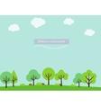 Cartoon nature landscape vector image