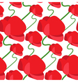 Seamless pattern of abstract poppy vector image