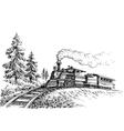 Steam train vector image vector image