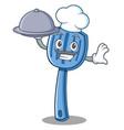 chef spatula character cartoon style vector image