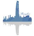 Isolated Shanghai skyline vector image