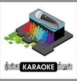 isometric karaoke microphon vector image